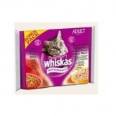 WHISKAS 4x100gr ADULT